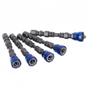 Mayitr Kepala Obeng Magnetic Screwdrivers Hex S2 PH2 5 PCS - BI0003823 - Purple - 6