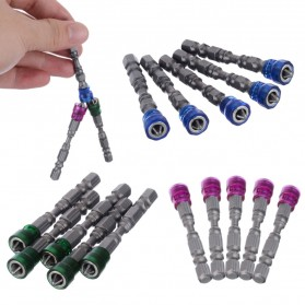 Mayitr Kepala Obeng Magnetic Screwdrivers Hex S2 PH2 5 PCS - BI0003823 - Purple - 9