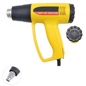 HONG GUAN Solder Uap Heat Gun Blower Elektronik Thermal Heater Hot Air Nozzle - KJ620BN - Yellow