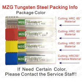 MZG Mata Bor Drill Bit Alloy Tungsten Steel 4mm 4 Flute - HRC50 - Silver - 8