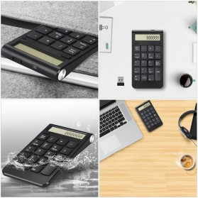 Tmddotda Numeric Keypad Numpad Wireless 2.4GHz - 839ES - Black - 2