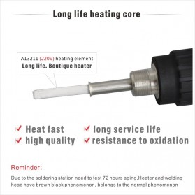 CXG Solder Listrik Constant Temperature Electric Iron Lead 220V 60W - E60WT - Black/Red - 4
