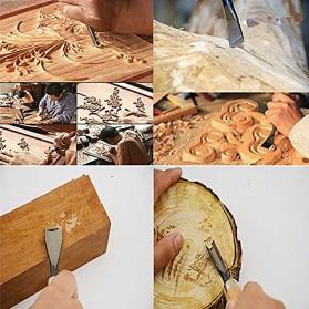 Doersupp Set Pisau Ukir Pahat Kayu 6 in 1 Wood Carving Art Knife - 517A - 4
