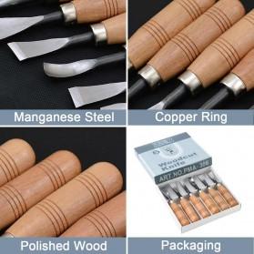 Doersupp Set Pisau Ukir Pahat Kayu 6 in 1 Wood Carving Art Knife - 517A - 5