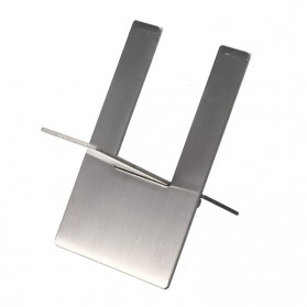 Cohiba Stand Holder Cerutu Cigarette Rack Stainless Steel - EC-49 - Silver - 2