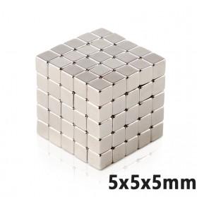 OLOEY Strong Neodymium Magnet NdFeB N35 5x5x5mm 50 PCS - F001699 - Silver
