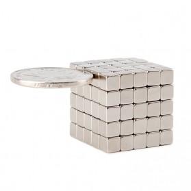 OLOEY Strong Neodymium Magnet NdFeB N35 5x5x5mm 50 PCS - F001699 - Silver - 3