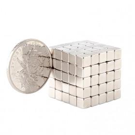 Taffware Strong Neodymium Magnet NdFeB N35 5x5x5mm 50 PCS - F001699 - Silver - 4