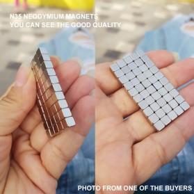 OLOEY Strong Neodymium Magnet NdFeB N35 5x5x5mm 50 PCS - F001699 - Silver - 5