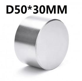 OLOEY Strong Neodymium Magnet NdFeB N35 50x30mm 1 PCS - N35-5030 - Silver
