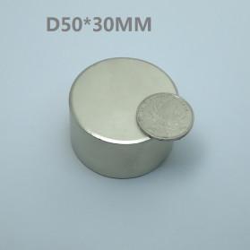 OLOEY Strong Neodymium Magnet NdFeB N35 50x30mm 1 PCS - N35-5030 - Silver - 2