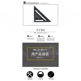 VKTECH Penggaris Siku Mistar Triangle Ruler Aluminium 7 inch - A10D01 - Black - 5