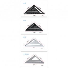VKTECH Penggaris Siku Mistar Triangle Ruler Aluminium 7 inch - A10D01 - Black - 6
