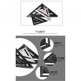 VKTECH Penggaris Siku Mistar Triangle Ruler Aluminium 7 inch - A10D01 - Black - 2