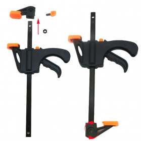 ALLOET Speed Squeeze Ratcheting Clamp Penjepit Kayu 6 Inch - T22106 - Black - 3