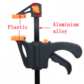 ALLOET Speed Squeeze Ratcheting Clamp Penjepit Kayu 6 Inch - T22106 - Black - 4