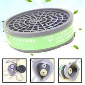 POWECOM Masker Gas Respirator Anti-Dust Industrial Mask - N8304 - White - 5
