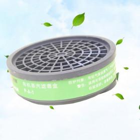 POWECOM Masker Gas Respirator Anti-Dust Industrial Mask - N8304 - White - 7