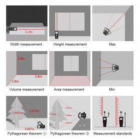 Mileseey Pengukur Jarak Laser Distance Meter Range Finder 40M - X5 - Black - 4