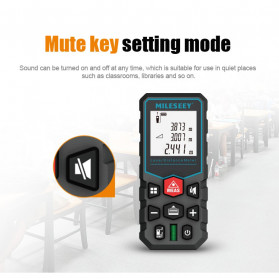 Mileseey Pengukur Jarak Laser Distance Meter Range Finder 40M - X5 - Black - 5