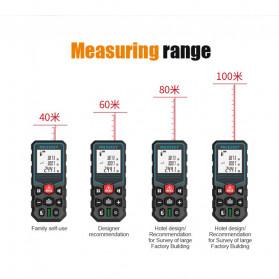 Mileseey Pengukur Jarak Laser Distance Meter Range Finder 40M - X5 - Black - 6