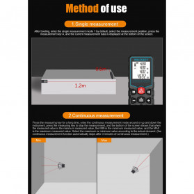 Mileseey Pengukur Jarak Laser Distance Meter Range Finder 40M - X5 - Black - 7