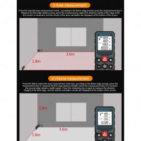 Mileseey Pengukur Jarak Laser Distance Meter Range Finder 40M - X5 - Black - 8