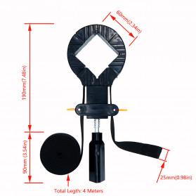YZL Alat Penjepit Bingkai Kayu Adjustable Rapid Corner Clamp Strap Band 4 Jaw 4 Meter - 9103 - 6