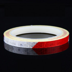 DUUTI Reflective Tape Adhesive Stiker Sepeda MTB Bike 800x1CM - MT800 - White/Red