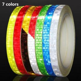 DUUTI Reflective Tape Adhesive Stiker Sepeda MTB Bike 800x1CM - MT800 - White/Red - 2