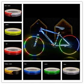 DUUTI Reflective Tape Adhesive Stiker Sepeda MTB Bike 800x1CM - MT800 - White/Red - 3