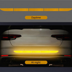 LARATH Nano Car Reflective Sticker Warning Strip Tape Traceless Protective Trunk Exterior - 1181 - Yellow