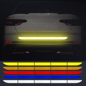 LARATH Nano Car Reflective Sticker Warning Strip Tape Traceless Protective Trunk Exterior - 1181 - White - 2