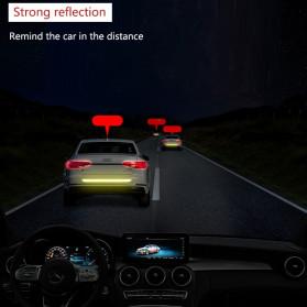 LARATH Nano Car Reflective Sticker Warning Strip Tape Traceless Protective Trunk Exterior - 1181 - White - 3