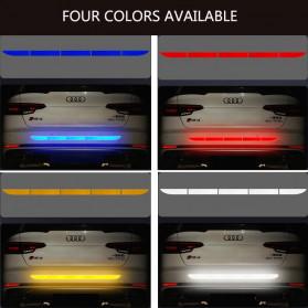 LARATH Nano Car Reflective Sticker Warning Strip Tape Traceless Protective Trunk Exterior - 1181 - White - 4