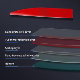 LARATH Nano Car Reflective Sticker Warning Strip Tape Traceless Protective Trunk Exterior - 1181 - White - 5