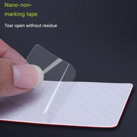 LARATH Nano Car Reflective Sticker Warning Strip Tape Traceless Protective Trunk Exterior - 1181 - White - 6