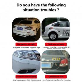 LARATH Nano Car Reflective Sticker Warning Strip Tape Traceless Protective Trunk Exterior - 1181 - White - 7