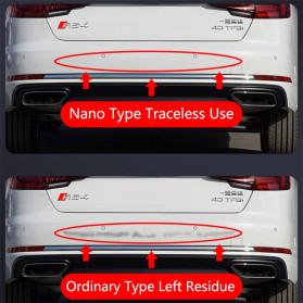 LARATH Nano Car Reflective Sticker Warning Strip Tape Traceless Protective Trunk Exterior - 1181 - White - 8