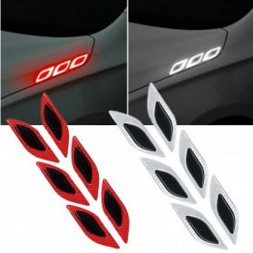 LARATH Carbon Fiber Car Sticker Auto Warning Decal Car Accessories Reflective Strips 6PCS - 1183 - Yellow - 2