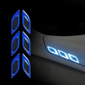 LARATH Carbon Fiber Car Sticker Auto Warning Decal Car Accessories Reflective Strips 6PCS - 1183 - Yellow - 3