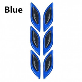 LARATH Carbon Fiber Car Sticker Auto Warning Decal Car Accessories Reflective Strips 6PCS - 1183 - Blue