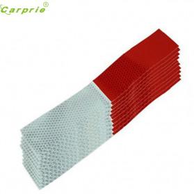 CARPRIE Sticker Mobil Nano Car Reflective Warning Strip Tape Protective 10PCS - 1182 - White/Red