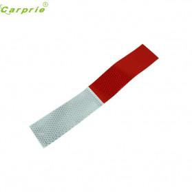 TongYong Sticker Mobil Nano Car Reflective Warning Strip Tape Protective 100PCS - 0352 - White/Red - 2