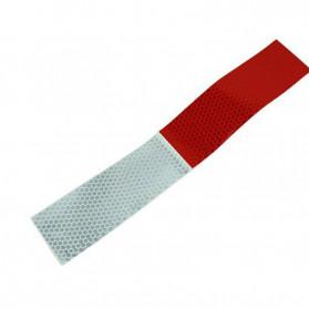 TongYong Sticker Mobil Nano Car Reflective Warning Strip Tape Protective 100PCS - 0352 - White/Red - 3