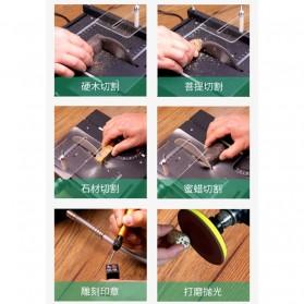 WOLIKE Table Saw Mesin Potong Mini Serbaguna DIY 100W - T5 - Black - 11