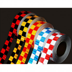 TaffPACK Nano Car Reflective Sticker Warning Strip Tape Two Color Trunk Exterior 5x300cm - White/Blue - 6