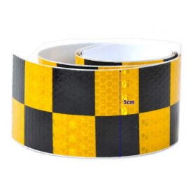 TaffPACK Nano Car Reflective Sticker Warning Strip Tape Two Color Trunk Exterior 5x300cm - Red/Yellow - 3
