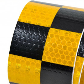 TaffPACK Nano Car Reflective Sticker Warning Strip Tape Two Color Trunk Exterior 5x300cm - Red/Yellow - 4