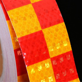TaffPACK Nano Car Reflective Sticker Warning Strip Tape Two Color Trunk Exterior 5x300cm - Red/Yellow - 7